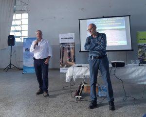 REMATE: El Presidente de la entidad junto al organizador de la Jornada el Ing. Agr. Pedro Weidmann